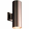 Progress Lighting Cylinder 2 Light Outdoor Sconce Reviews Wayfair