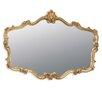 Home Essence Overmantle Rectangular Gilt Leaf Mirror