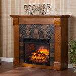Wildon Home 174 Tabor Infrared Electric Fireplace Amp Reviews