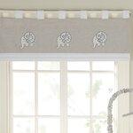 Elrene Home Fashions Linen Stripe Rod Pocket Sheer Window
