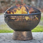 Sunjoy Cobbler Steel Outdoor Fireplace Amp Reviews Wayfair