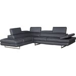 J Amp M Furniture Miami Leather Sectional Amp Reviews Allmodern