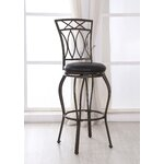 Wade Logan Tyson Adjustable Height Swivel Bar Stool