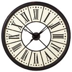 woodland imports beautiful wood metal wall clock reviews wayfair