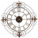 One Allium Way Oversized 31 Quot Round Wall Clock Amp Reviews