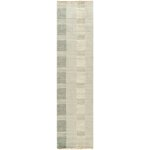Dash And Albert Rugs Cut Stripe Knotted Grey Area Rug