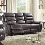 Darby Home Co Gardner Leather Sofa Amp Reviews Wayfair