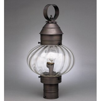 northeast lantern onion 1 light post light wayfair supply. Black Bedroom Furniture Sets. Home Design Ideas
