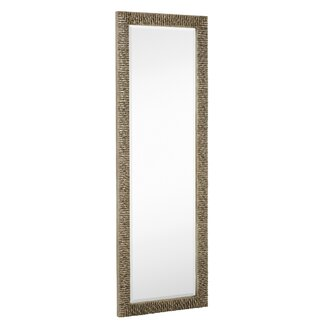 Modern all mirrors allmodern for Long silver wall mirror