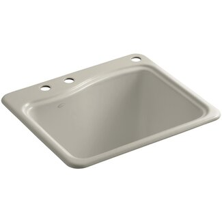 Kohler River Falls Top-Mount Utility Sink with 3 Faucet Holes - 2 ...