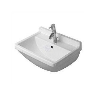 Duravit Pedestal Sink : Duravit Starck 3 Top Platform Pedestal Bathroom Sink Set with Overflow ...
