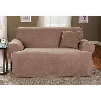 sure fit sofa box cushion slipcover wayfair. Black Bedroom Furniture Sets. Home Design Ideas