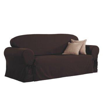 sure fit sofa skirted slipcover reviews. Black Bedroom Furniture Sets. Home Design Ideas