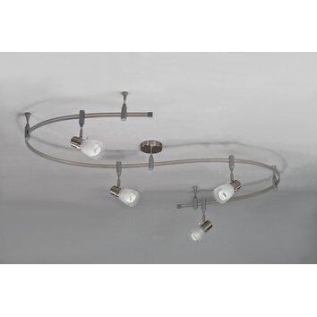 4 light flexible head full track lighting kit black linear track lighting