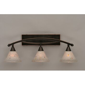 Toltec Lighting Bow 3 Light Vanity Light Reviews Wayfair