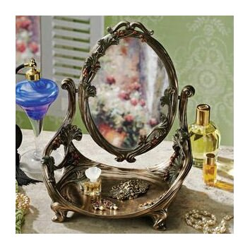 Design Toscano Guimard Art Nouveau Vanity Table Mirror With Stand Revie