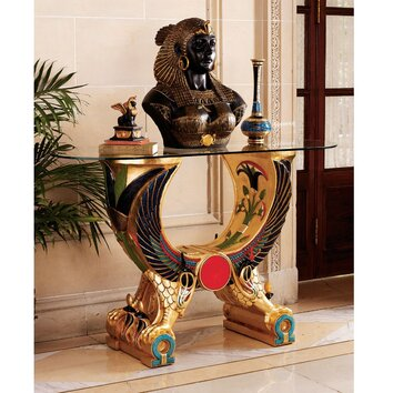Design Toscano Egyptian Wings Of Horus Grand Altar Console