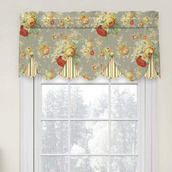 Waverly Sanctuary Rose Peek A Boo 52 Quot Curtain Valance