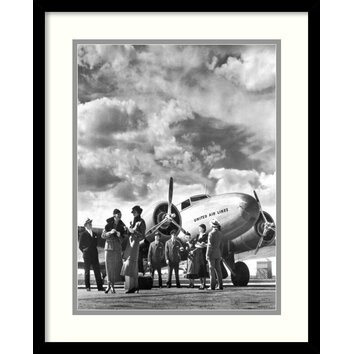 Amanti Art Passenger At Aviation Field At Newark Nj 1940