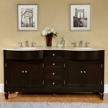 Silkroad Exclusive 72 Double Bathroom Vanity Set Reviews Wayfair