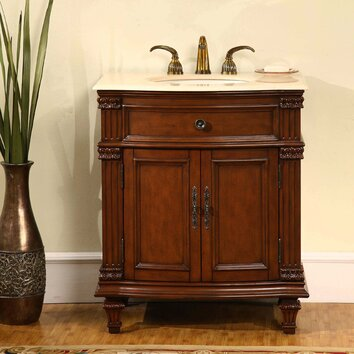 Silkroad exclusive springfield 31 single bathroom vanity - Wayfair furniture bathroom vanities ...