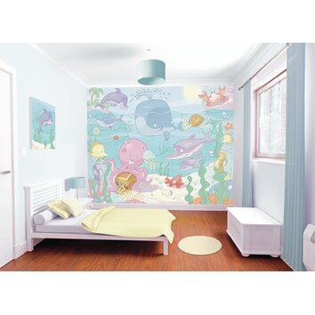 bathrooms for kids wallpops walltastic wall baby the sea wall 11988
