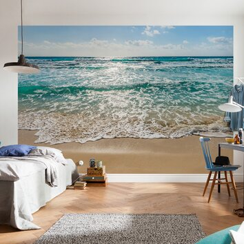 bathrooms for kids wallpops komar seaside wall mural amp reviews wayfair 11988