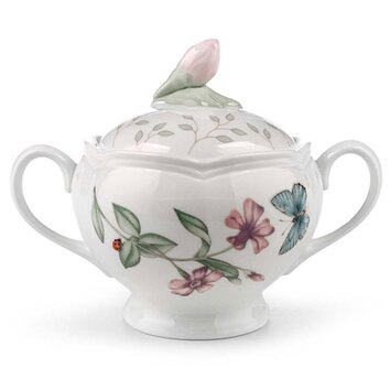 Lenox Butterfly Meadow Sugar Bowl With Lid Amp Reviews Wayfair