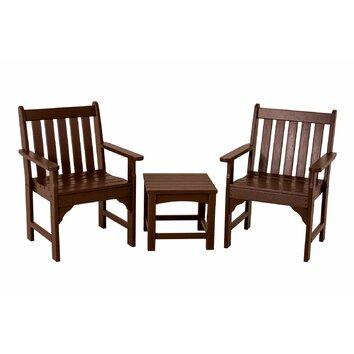 Polywood Vineyard 3 Piece Garden Chair Set Reviews Wayfair