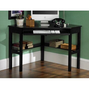 Wildon Home 174 Parson Shelby Corner Desk In Black Amp Reviews