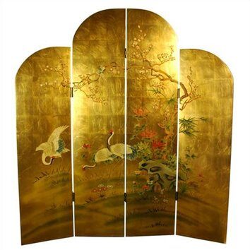Oriental Furniture 72 Quot X 64 Quot Cranes Decorative 4 Panel