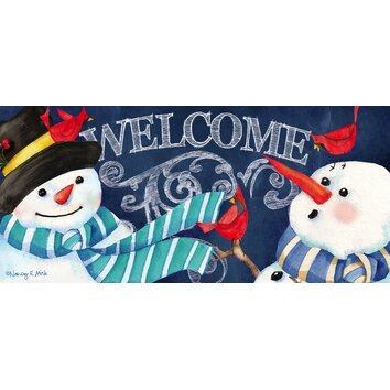 Evergreen Enterprises Inc Snowman Welcome Sassafras