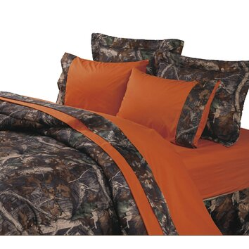 Hiend accents oak camo sheet set reviews wayfair for Camo chaise lounge