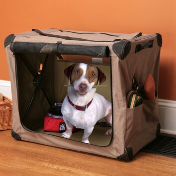 abo gear digs collapsible pet crate reviews wayfair. Black Bedroom Furniture Sets. Home Design Ideas