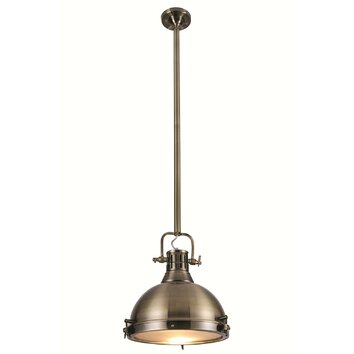 Elegant lighting industrial 1 light mini pendant wayfair for Wayfair industrial lamp