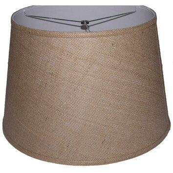 lamp factory 18 burlap drum lamp shade reviews. Black Bedroom Furniture Sets. Home Design Ideas