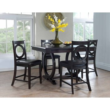 Powell Brigham 5 Piece Counter Height Dining Set Wayfair