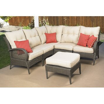 Mission Hills Laguna 6 Piece Sectional Deep Seating Group