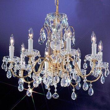 Classic Lighting Daniele 8 Light Crystal Chandelier
