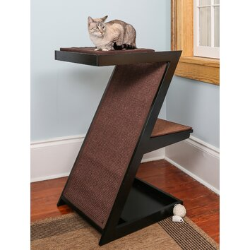 The refined feline zen cat scratching post reviews wayfair for Chaise lounge cat scratcher