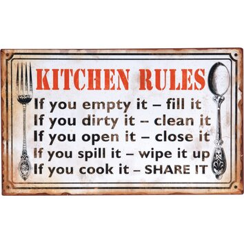 Wilco Home Kitchen Rules Textual Art Plaque Amp Reviews