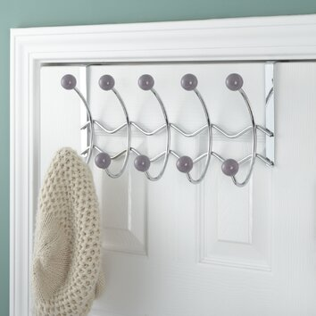 Elegant Home Fashions 5 Hook Over The Door Coat Rack