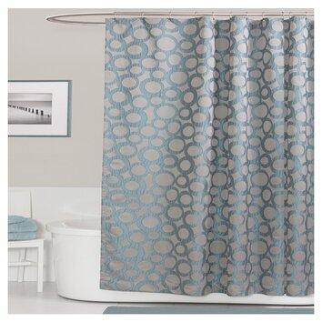 Lush Decor Orbit Shower Curtain in Blue Reviews Wayfairca