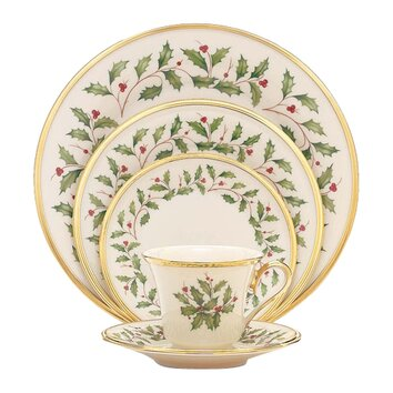Lenox Holiday 5 Piece Place Setting Amp Reviews Wayfair