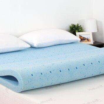 """Furinno Healthy Sleep 2"""" Cool Gel Ventilated Memory Foam"""