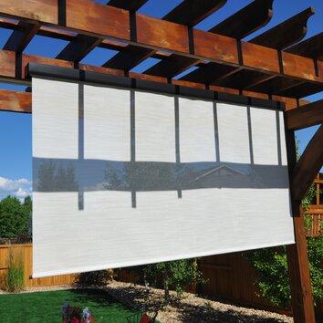 Keystone Fabrics Pole Operated Exterior Outdoor Solar Shades Reviews Wayfair