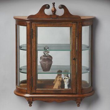 wall mounted china cabinet butler masterpiece wall mounted curio cabinet amp reviews 28092