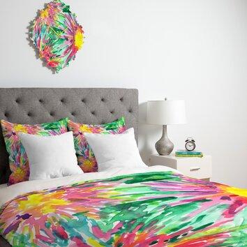 Deny Designs Joy Laforme Floral Confetti Duvet Cover