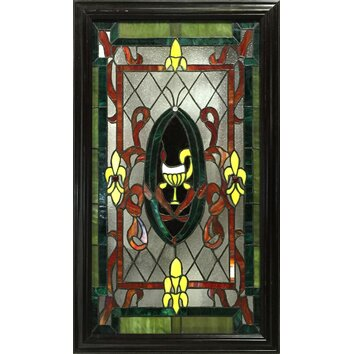 Jj International Celia Rectangular Stained Glass Panel