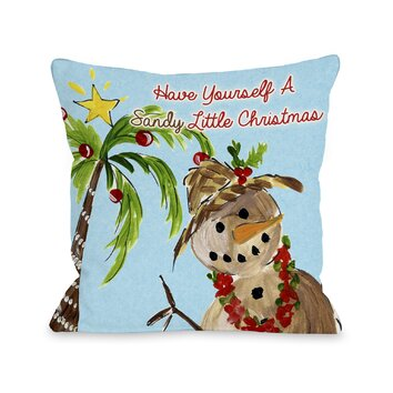 One Bella Casa Sandy Little Christmas Throw Pillow & Reviews Wayfair